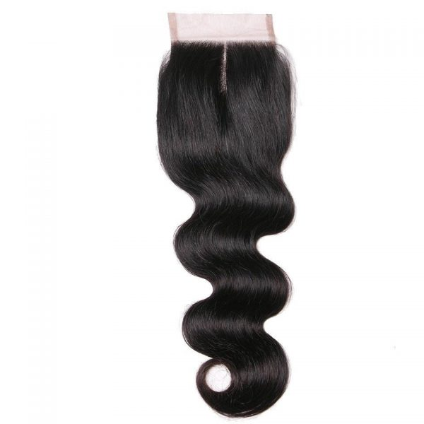 Deluxe Body Wave HD Swiss 4×4 Lace Closure (Free Part)